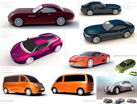 автомобильный дизайн    3D модели